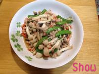 甜豆炒鮮菇