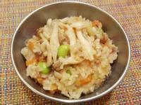 寶寶副食:電鍋煮雙菇蕃茄牛肉燉飯