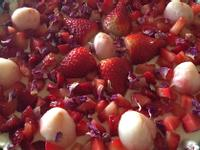 玫瑰荔枝草莓芝士蛋糕