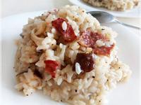 培根白醬燉飯♥(剩飯變化料理)