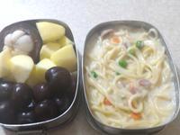 中學生便當-白醬義大利麵