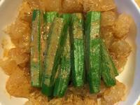 胡麻醬秋葵西柚沙拉