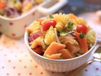 食蔬鮭魚沙拉義大利麵