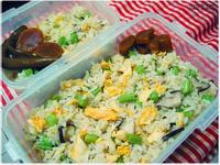 蛋炒飯便當・四季豆炒鮮菇佐黑胡椒