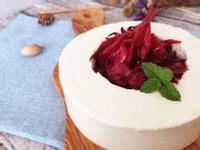 洛神生乳酪蛋糕(免烤箱)