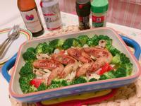 紐奧良雞翅烤蔬菜