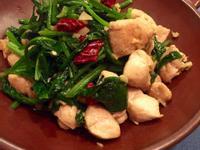 菠菜炒雞丁