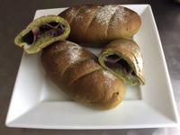 抺茶豆沙麻糬麵包
