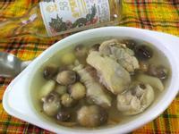 電鍋料理-養生草菇雞湯-58度金門高粱酒
