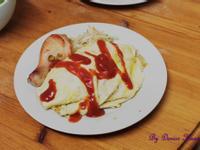 烤雞腿之蕃茄蛋包飯❤
