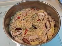 一鍋到底-蒜香鮪魚香菇義大利麵