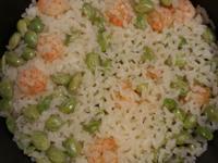 微波爐版蝦仁毛豆燉飯