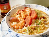 火燒鮮蝦上湯麵
