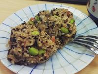 明太子毛豆烤飯糰