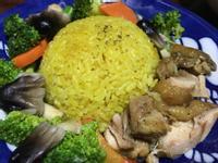 椰香雞肉薑黃飯(電子鍋版)