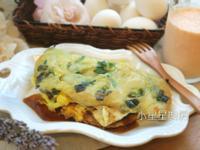 炸蛋蔥油餅&木瓜牛奶
