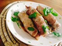 香菜青豆豬肉卷一超簡單,讓小孩吃青菜