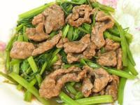 沙茶空心菜炒牛肉