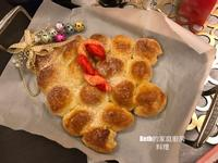 鮮奶油聖誕樹麵包