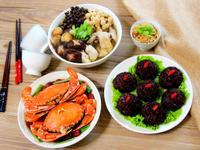 花雕蟹+百菇雞湯+紫米蝦仁珍珠丸