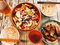 地中海風炙燒章魚野菜溫沙拉