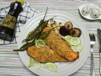 西式麻香烤鮭魚【福壽純芝麻油玩料理】