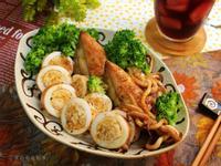 薑燒小卷鑲飯【福壽純芝麻油玩料理】
