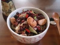 麻油雞粒炒飯【福壽純芝麻油玩料理】