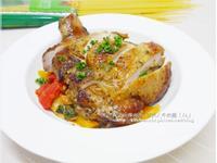 【蕃茄蘿勒雞腿義大利麵 】美味煮湯鍋食譜