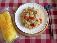 白菜滷燴薑黃麵線