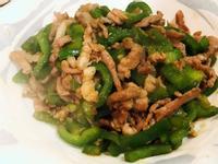 沙茶青椒炒肉絲