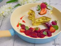 莓の卡士達鬆餅[蛋白鬆餅]