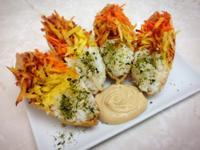 芝麻醬與彩虹豆皮壽司