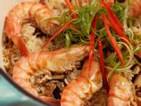 草蝦香菇油飯