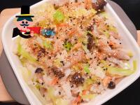 櫻花蝦高麗菜菇菇炊飯