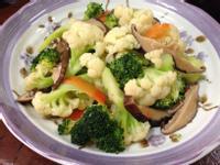 香菇炒雙色花椰菜