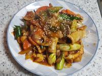 (韓式)炒魷魚 오징어볶음