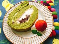 抹茶紅豆生乳捲(簡單安全的海綿蛋糕作法)