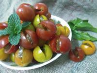 夜市美食─一口夾心梅蕃茄