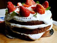 巧克力戚風裸蛋糕(電子鍋版)