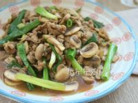 青蔥蘑菇炒肉絲