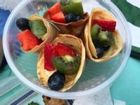 雪糕筒 吉士水果捲 水果甜筒