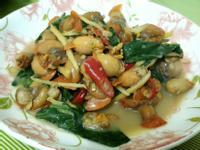 懶人菜譜-快炒赤嘴蛤肉