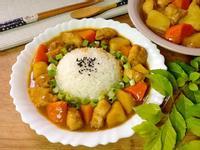 蘋果雞肉咖哩(飯)