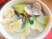 夏日的蛤蜊絲瓜麵疙瘩