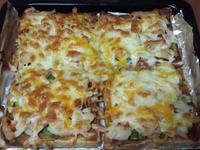 超懶人料理~ 燻雞吐司披薩