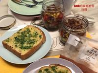 蔥香厚片吐司 + 沙拉罐 - 野餐餐點