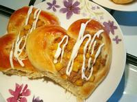 玉米美奶滋鮪魚麵包 簡易。家常烘焙。早餐