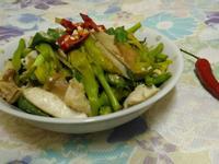 金針雞柳炒鮮菇