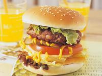 牛肉漢堡-野餐玩花樣56款不沾手輕食料理
